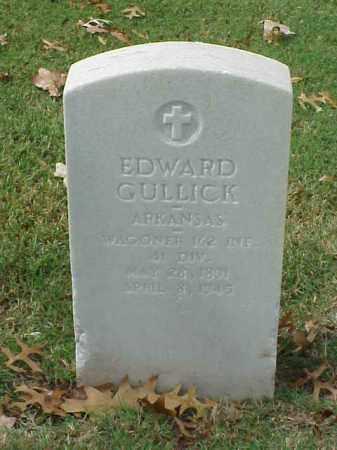 GULLICK  (VETERAN WWI), EDWARD - Pulaski County, Arkansas | EDWARD GULLICK  (VETERAN WWI) - Arkansas Gravestone Photos