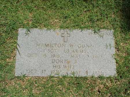 GUNN (VETERAN WWII), HAMILTON W - Pulaski County, Arkansas   HAMILTON W GUNN (VETERAN WWII) - Arkansas Gravestone Photos