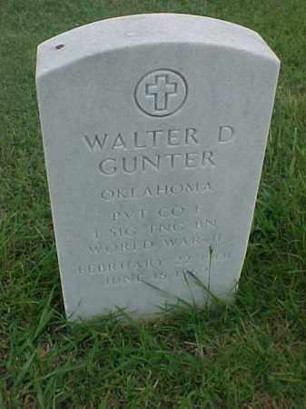 GUNTER (VETERAN WWII), WALTER D - Pulaski County, Arkansas | WALTER D GUNTER (VETERAN WWII) - Arkansas Gravestone Photos