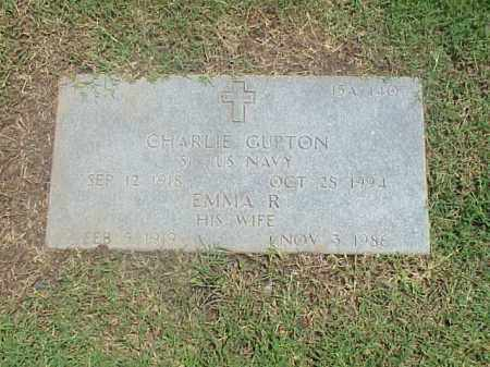 GUPTON (VETERAN WWII), CHARLIE - Pulaski County, Arkansas   CHARLIE GUPTON (VETERAN WWII) - Arkansas Gravestone Photos