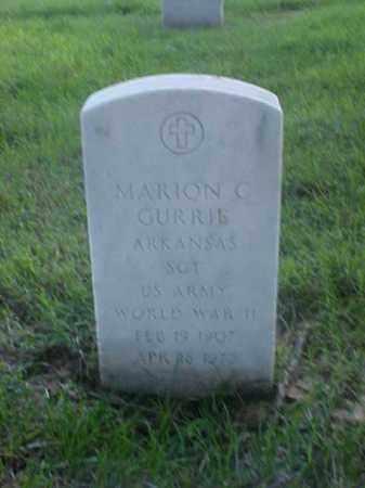 GURRIE (VETERAN WWII), MARION C - Pulaski County, Arkansas   MARION C GURRIE (VETERAN WWII) - Arkansas Gravestone Photos