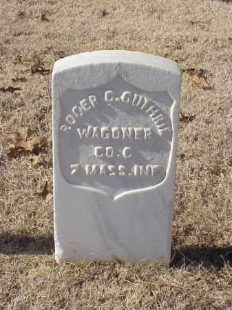 GUTHRIE  (VETERAN UNION), ROGER C - Pulaski County, Arkansas   ROGER C GUTHRIE  (VETERAN UNION) - Arkansas Gravestone Photos