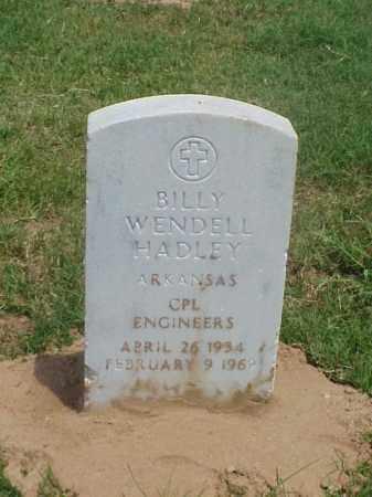 HADLEY (VETERAN), BILLY WENDELL - Pulaski County, Arkansas | BILLY WENDELL HADLEY (VETERAN) - Arkansas Gravestone Photos