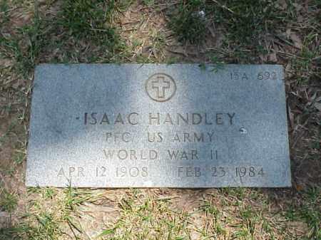 HANDLEY (VETERAN WWII), ISSAC - Pulaski County, Arkansas | ISSAC HANDLEY (VETERAN WWII) - Arkansas Gravestone Photos