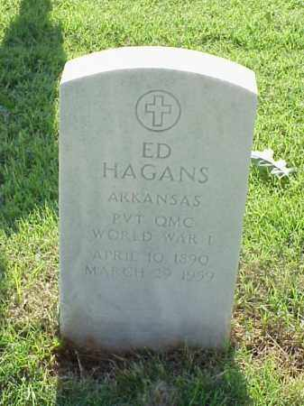 HAGANS (VETERAN WWI), ED - Pulaski County, Arkansas | ED HAGANS (VETERAN WWI) - Arkansas Gravestone Photos