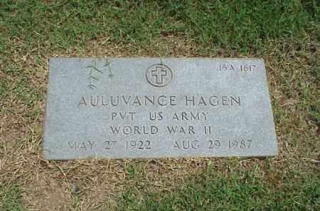 HAGEN (VETERAN WWII), AULUVANCE - Pulaski County, Arkansas   AULUVANCE HAGEN (VETERAN WWII) - Arkansas Gravestone Photos