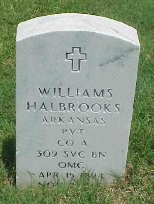 HALBROOKS (VETERAN WWI), WILLIAMS - Pulaski County, Arkansas | WILLIAMS HALBROOKS (VETERAN WWI) - Arkansas Gravestone Photos
