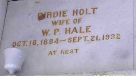 HALE, BIRDIE - Pulaski County, Arkansas   BIRDIE HALE - Arkansas Gravestone Photos