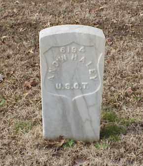 HALEY  (VETERAN UNION), ANDREW - Pulaski County, Arkansas   ANDREW HALEY  (VETERAN UNION) - Arkansas Gravestone Photos