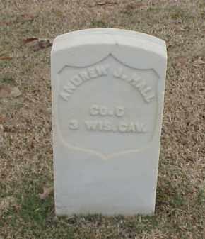 HALL  (VETERAN UNION), ANDREW J - Pulaski County, Arkansas | ANDREW J HALL  (VETERAN UNION) - Arkansas Gravestone Photos