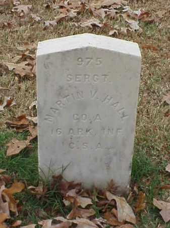 HALL  (VETERAN CSA), MARTIN V - Pulaski County, Arkansas   MARTIN V HALL  (VETERAN CSA) - Arkansas Gravestone Photos