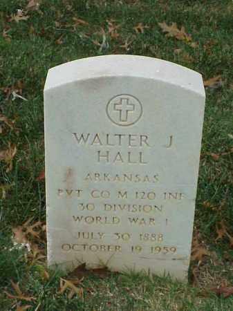 HALL  (VETERAN WWI), WALTER J - Pulaski County, Arkansas   WALTER J HALL  (VETERAN WWI) - Arkansas Gravestone Photos