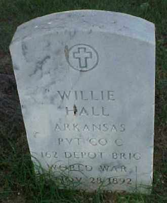 HALL (VETERAN WWI), WILLIE - Pulaski County, Arkansas   WILLIE HALL (VETERAN WWI) - Arkansas Gravestone Photos
