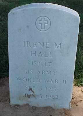 HALL (VETERAN WWII), IRENE M - Pulaski County, Arkansas | IRENE M HALL (VETERAN WWII) - Arkansas Gravestone Photos