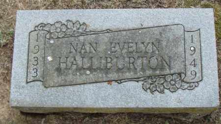 HALLIBURTON, NAN  EVELYN - Pulaski County, Arkansas   NAN  EVELYN HALLIBURTON - Arkansas Gravestone Photos