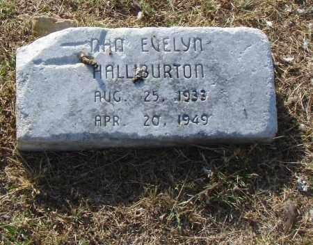 HALLIBURTON, NAN EVELYN - Pulaski County, Arkansas | NAN EVELYN HALLIBURTON - Arkansas Gravestone Photos
