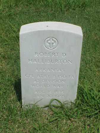 HALLIBURTON (VETERAN WWI), ROBERT D - Pulaski County, Arkansas   ROBERT D HALLIBURTON (VETERAN WWI) - Arkansas Gravestone Photos