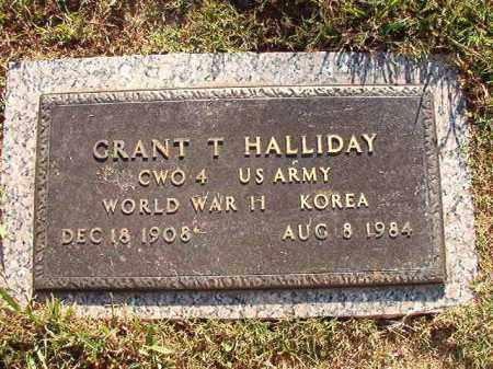 HALLIDAY (VETERAN WWII;KOR), GRANT T - Pulaski County, Arkansas | GRANT T HALLIDAY (VETERAN WWII;KOR) - Arkansas Gravestone Photos