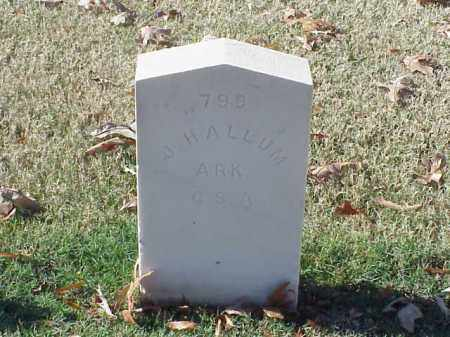 HALLUM  (VETERAN CSA), J - Pulaski County, Arkansas   J HALLUM  (VETERAN CSA) - Arkansas Gravestone Photos