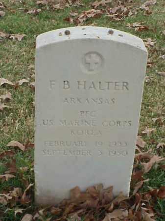 HALTER  (VETERAN KOR), F B - Pulaski County, Arkansas | F B HALTER  (VETERAN KOR) - Arkansas Gravestone Photos