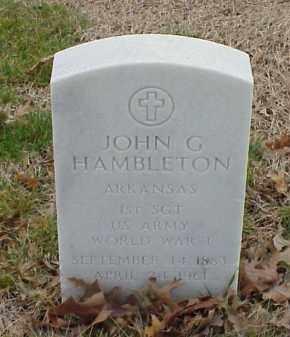 HAMBLETON  (VETERAN WWI), JOHN G - Pulaski County, Arkansas   JOHN G HAMBLETON  (VETERAN WWI) - Arkansas Gravestone Photos
