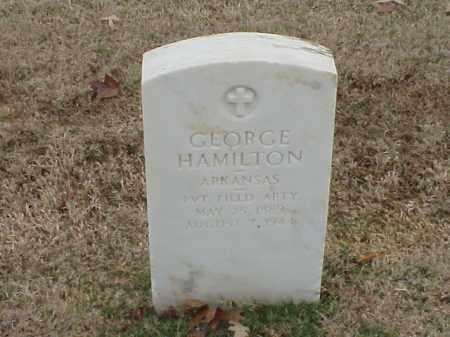 HAMILTON  (VETERAN WWI), GEORGE - Pulaski County, Arkansas | GEORGE HAMILTON  (VETERAN WWI) - Arkansas Gravestone Photos