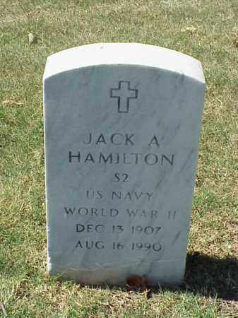 HAMILTON  (VETERAN WWII), JACK A - Pulaski County, Arkansas   JACK A HAMILTON  (VETERAN WWII) - Arkansas Gravestone Photos