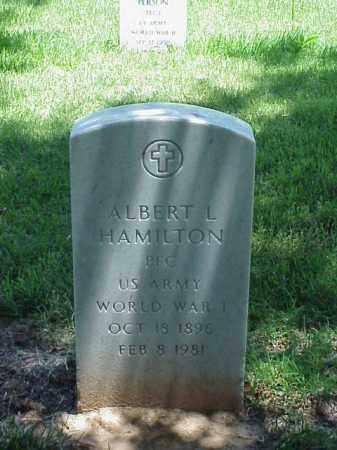 HAMILTON (VETERAN WWI), ALBERT L - Pulaski County, Arkansas   ALBERT L HAMILTON (VETERAN WWI) - Arkansas Gravestone Photos
