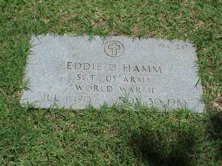HAMM (VETERAN WWII), EDDIE D - Pulaski County, Arkansas | EDDIE D HAMM (VETERAN WWII) - Arkansas Gravestone Photos