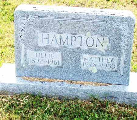 HAMPTON, LILLIE - Pulaski County, Arkansas | LILLIE HAMPTON - Arkansas Gravestone Photos