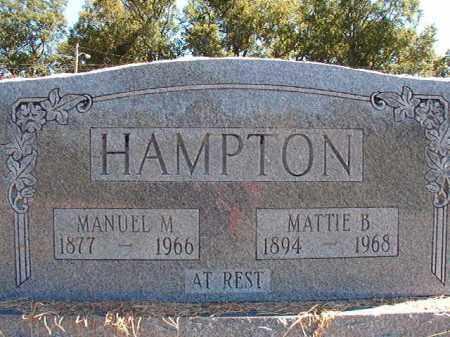 HAMPTON, MANUEL M - Pulaski County, Arkansas | MANUEL M HAMPTON - Arkansas Gravestone Photos