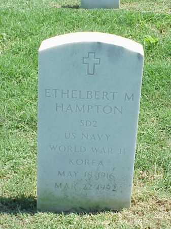 HAMPTON (VETERAN 2 WARS), ETHELBERT M - Pulaski County, Arkansas | ETHELBERT M HAMPTON (VETERAN 2 WARS) - Arkansas Gravestone Photos