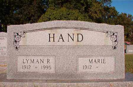 HAND, LYMAN R - Pulaski County, Arkansas | LYMAN R HAND - Arkansas Gravestone Photos