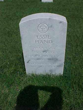 HAND (VETERAN WWI), ESSIE - Pulaski County, Arkansas | ESSIE HAND (VETERAN WWI) - Arkansas Gravestone Photos