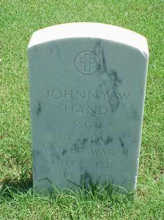 HAND (VETERAN WWII), JOHNNY W - Pulaski County, Arkansas | JOHNNY W HAND (VETERAN WWII) - Arkansas Gravestone Photos