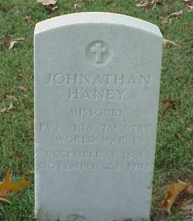 HANEY  (VETERAN WWI), JOHNATHAN - Pulaski County, Arkansas | JOHNATHAN HANEY  (VETERAN WWI) - Arkansas Gravestone Photos