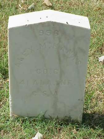HANKS  (VETERAN CSA), ALEX M - Pulaski County, Arkansas | ALEX M HANKS  (VETERAN CSA) - Arkansas Gravestone Photos