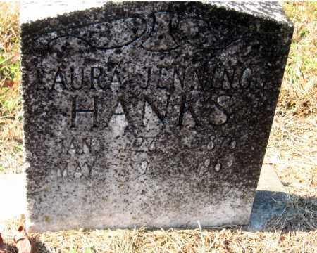 JENNINGS HANKS, LAURA - Pulaski County, Arkansas | LAURA JENNINGS HANKS - Arkansas Gravestone Photos