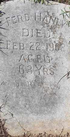 HANLY, FERD - Pulaski County, Arkansas | FERD HANLY - Arkansas Gravestone Photos