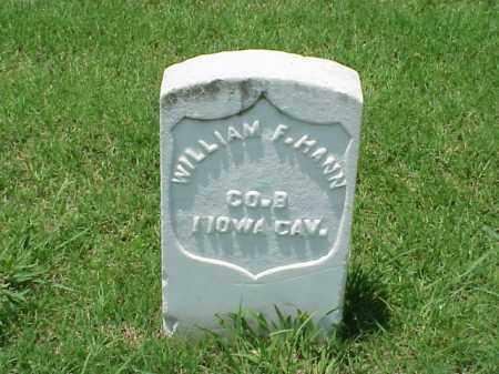 HANN (VETERAN UNION), WILLIAM F - Pulaski County, Arkansas | WILLIAM F HANN (VETERAN UNION) - Arkansas Gravestone Photos