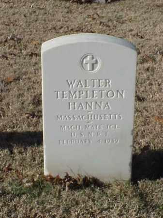 HANNA  (VETERAN WWI), WALTER TEMPLETON - Pulaski County, Arkansas | WALTER TEMPLETON HANNA  (VETERAN WWI) - Arkansas Gravestone Photos
