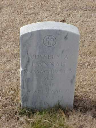 HANNAH  (VETERAN WWII), RUSSELL A - Pulaski County, Arkansas   RUSSELL A HANNAH  (VETERAN WWII) - Arkansas Gravestone Photos