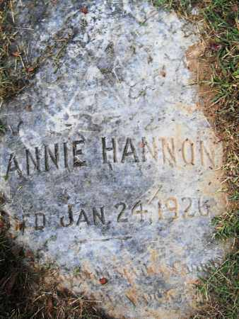 HANNON, ANNIE - Pulaski County, Arkansas | ANNIE HANNON - Arkansas Gravestone Photos