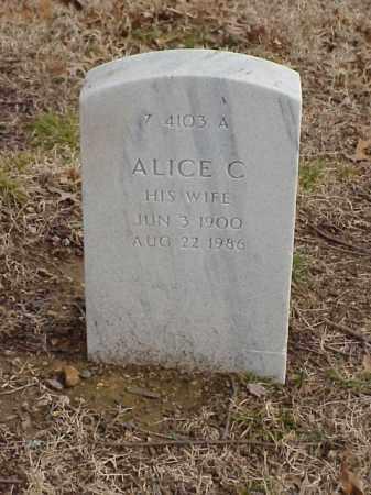 HANNS, ALICE C. - Pulaski County, Arkansas | ALICE C. HANNS - Arkansas Gravestone Photos