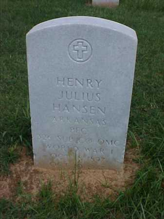 HANSEN (VETERAN WWI), HENRY JULIUS - Pulaski County, Arkansas | HENRY JULIUS HANSEN (VETERAN WWI) - Arkansas Gravestone Photos