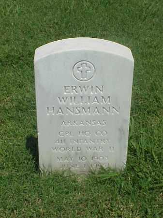HANSMANN (VETERAN WWII), ERWIN WILLIAM - Pulaski County, Arkansas   ERWIN WILLIAM HANSMANN (VETERAN WWII) - Arkansas Gravestone Photos