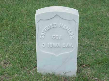 HANSON (VETERAN UNION), GOTFRIED - Pulaski County, Arkansas   GOTFRIED HANSON (VETERAN UNION) - Arkansas Gravestone Photos