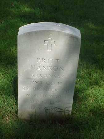 HANSON (VETERAN WWI), BRITT - Pulaski County, Arkansas   BRITT HANSON (VETERAN WWI) - Arkansas Gravestone Photos