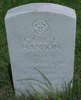 HANSON (VETERAN WWII), CARL E - Pulaski County, Arkansas | CARL E HANSON (VETERAN WWII) - Arkansas Gravestone Photos