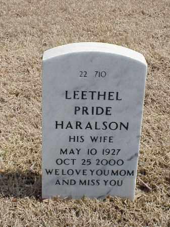 HARALSON, LEETHEL - Pulaski County, Arkansas | LEETHEL HARALSON - Arkansas Gravestone Photos